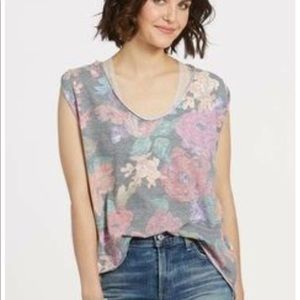 Free People Gardenia tee faded floral